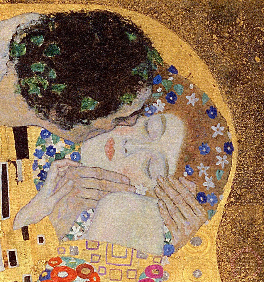 Gustav Klimt The Kiss Art Painting