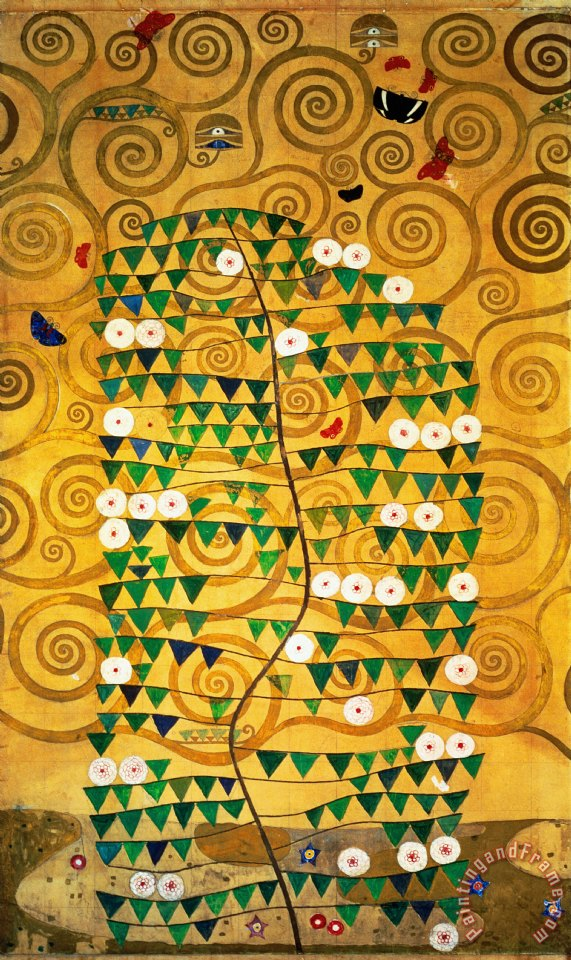 Tree of Life Stoclet Frieze painting - Gustav Klimt Tree of Life Stoclet Frieze Art Print