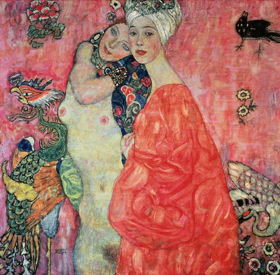 Gustav Klimt Women Friends Art Print