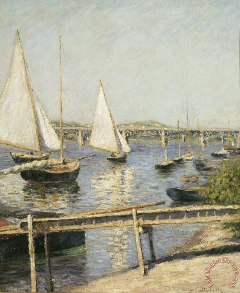 Sailing Boats at Argenteuil painting - Gustave Caillebotte Sailing Boats at Argenteuil Art Print
