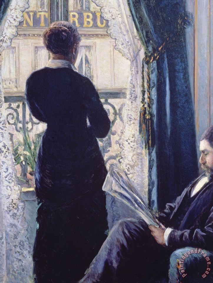 Interior Woman At The Window painting - Gustave Caillebotte Interior Woman At The Window Art Print