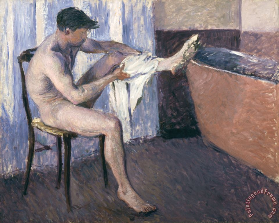 Man Drying His Leg painting - Gustave Caillebotte Man Drying His Leg Art Print