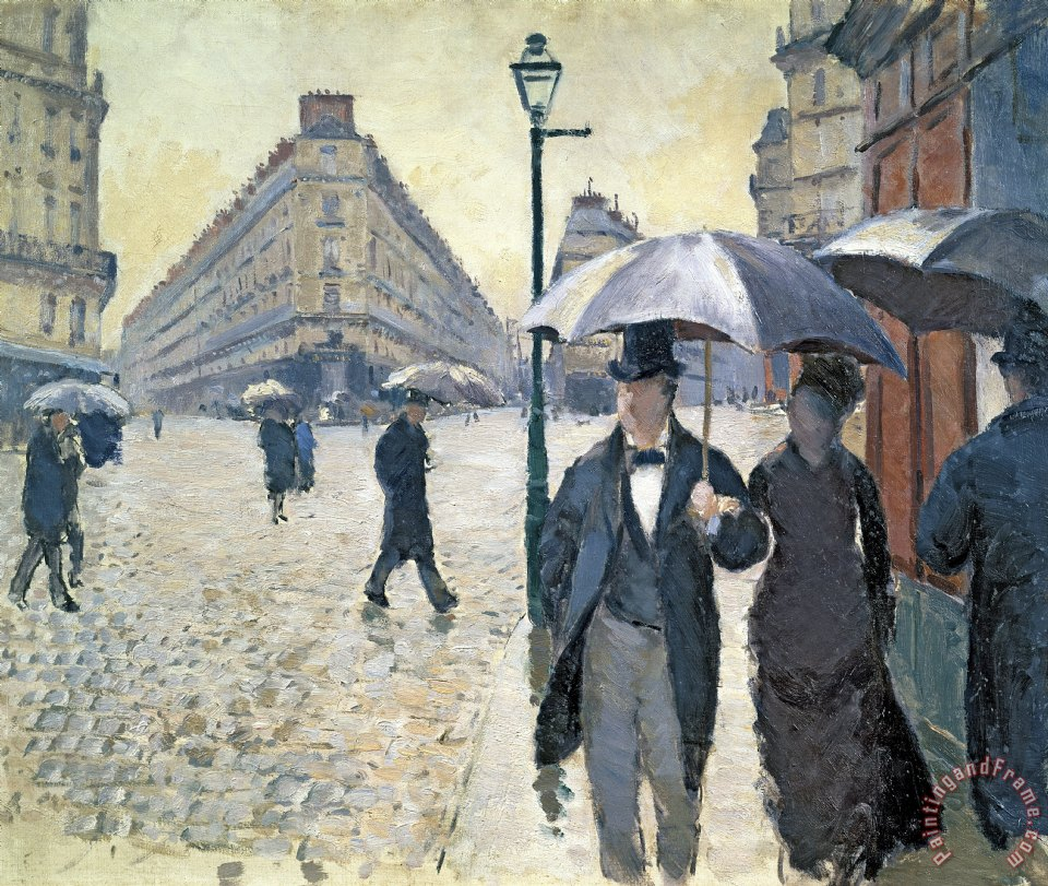 Paris a Rainy Day painting - Gustave Caillebotte Paris a Rainy Day Art Print