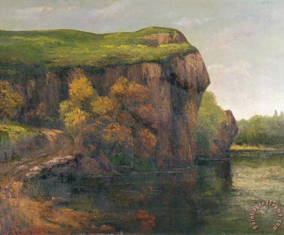 Rocky Cliffs painting - Gustave Courbet Rocky Cliffs Art Print