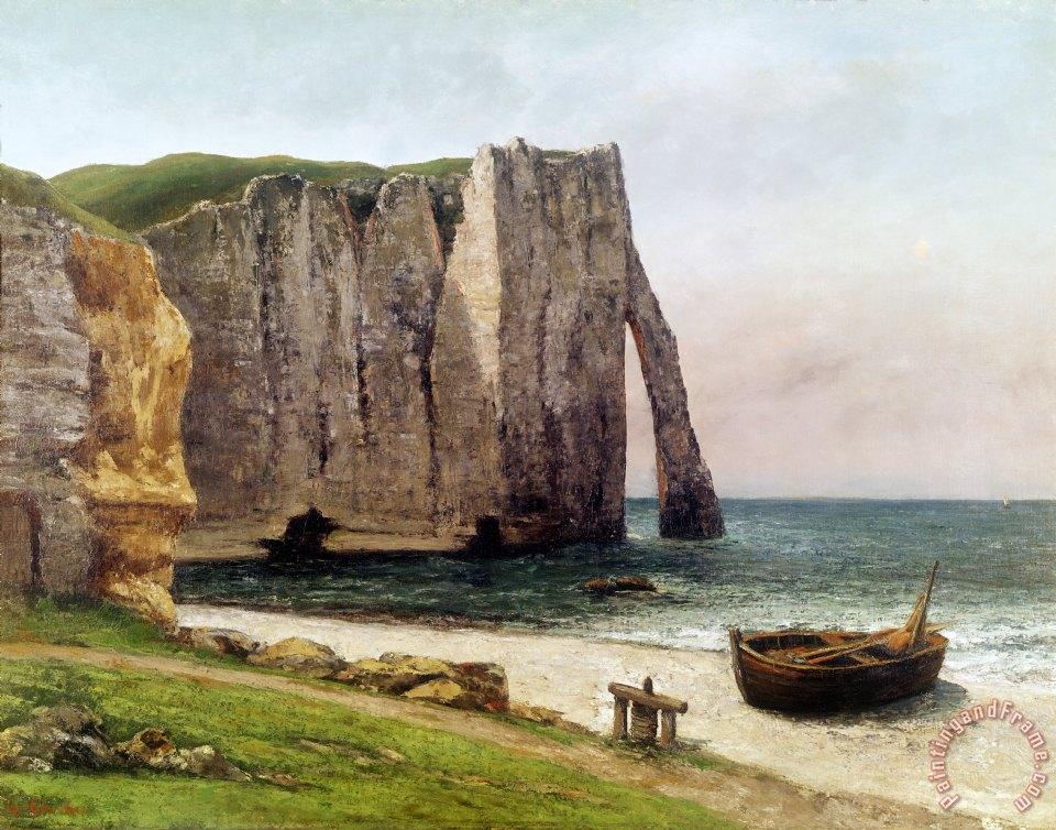The Cliffs at Etretat painting - Gustave Courbet The Cliffs at Etretat Art Print