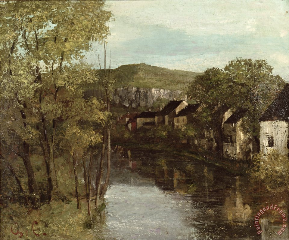 Gustave Courbet The Reflection of Ornans Art Print