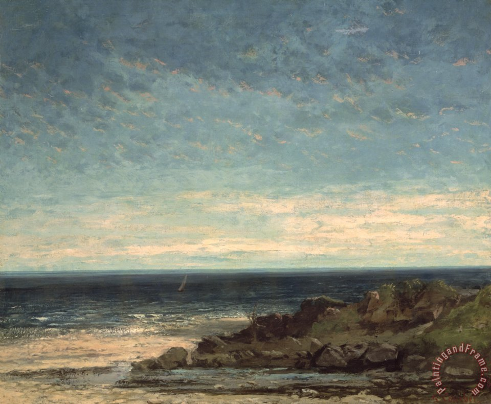 The Sea painting - Gustave Courbet The Sea Art Print