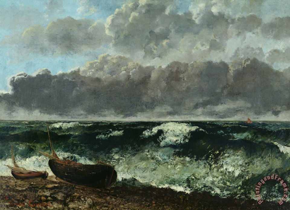 The Stormy Sea painting - Gustave Courbet The Stormy Sea Art Print