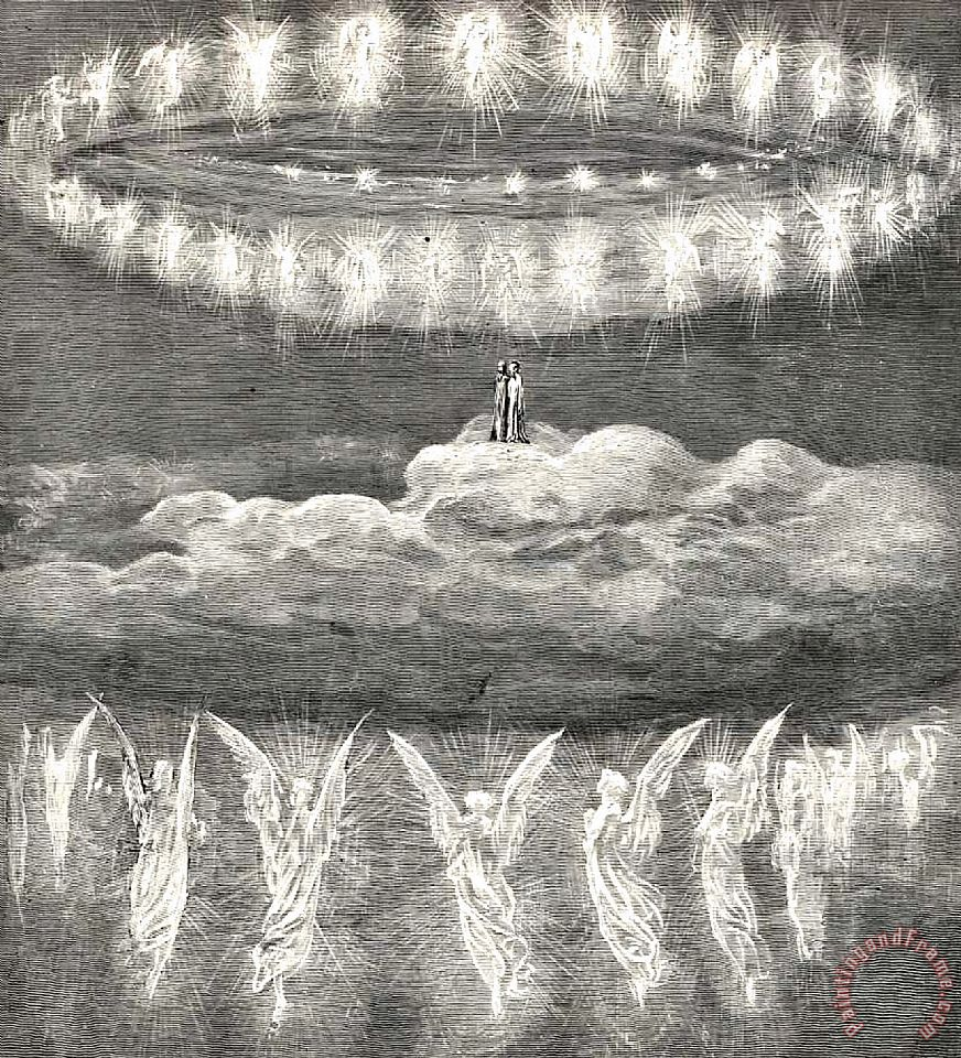 Gustave Dore Angels Dante S Paradise Illustration Painting