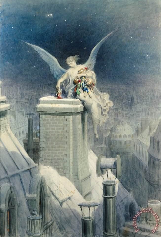 Christmas Eve painting - Gustave Dore Christmas Eve Art Print