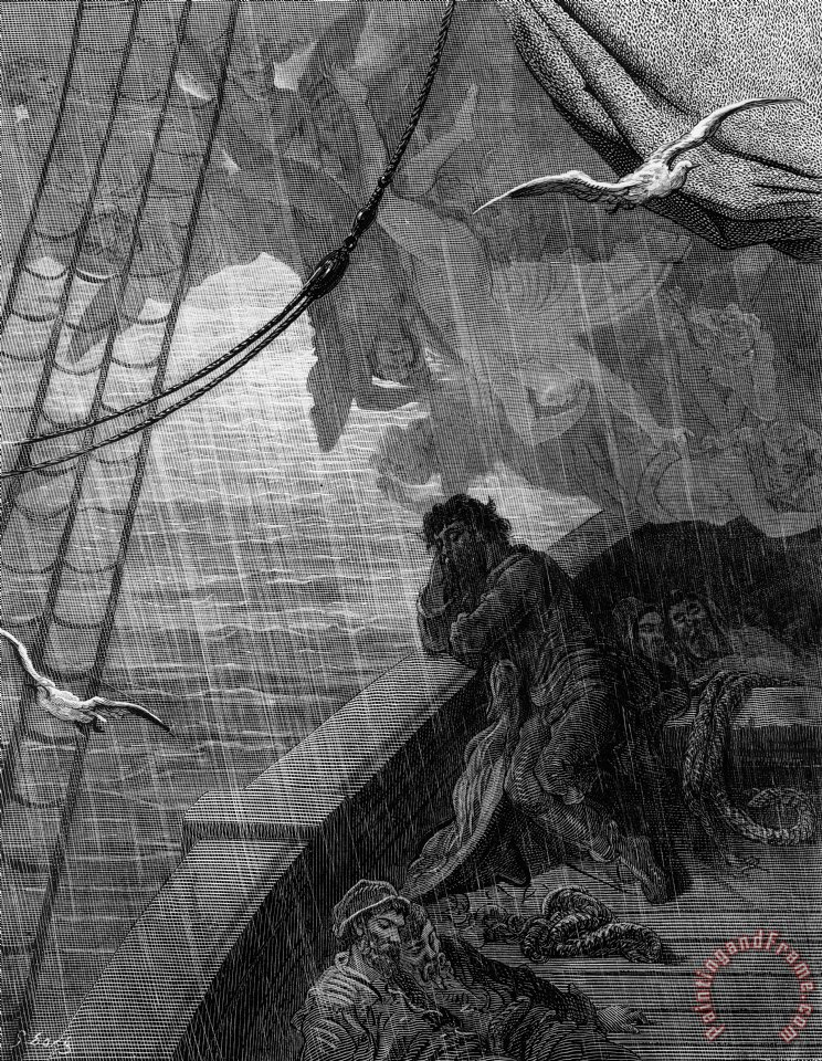Gustave Dore The Rain Begins To Fall Art Painting