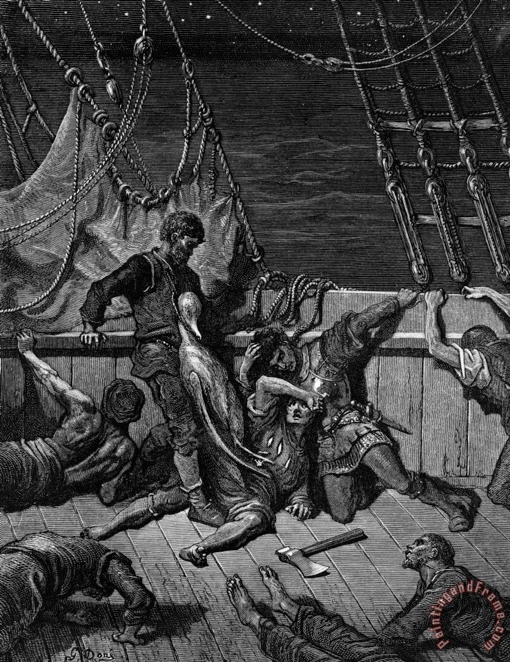 Gustave Dore The Sailors Curse The Mariner Forced To Wear