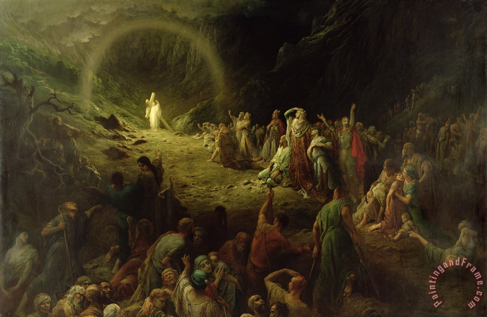 The Valley of Tears painting - Gustave Dore The Valley of Tears Art Print
