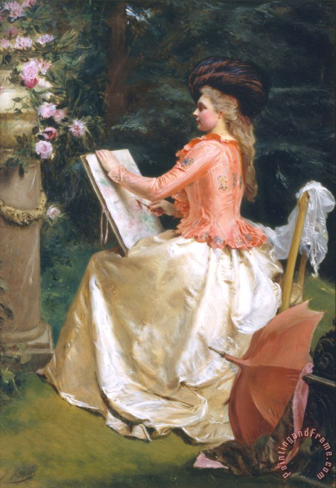 Gustave Jean Jacquet The Artist in The Garden painting - The Artist ...
