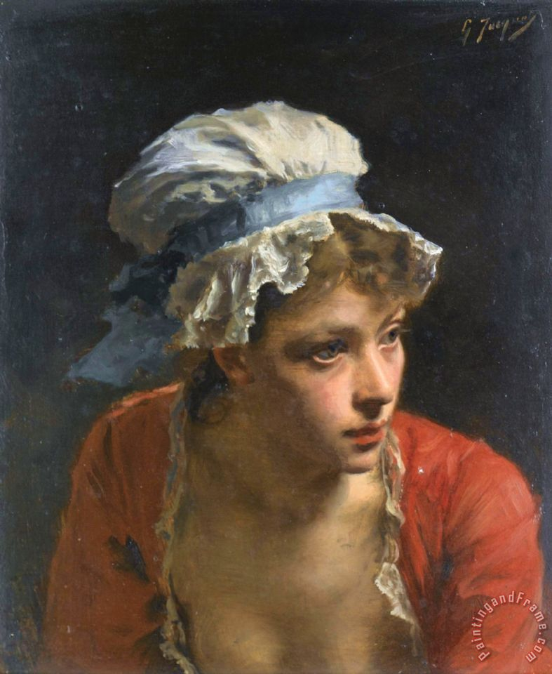 Gustave Jean Jacquet The Mob Cap painting - The Mob Cap print for sale