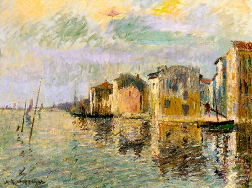 Martigues in the South of France painting - Gustave Loiseau Martigues in the South of France Art Print