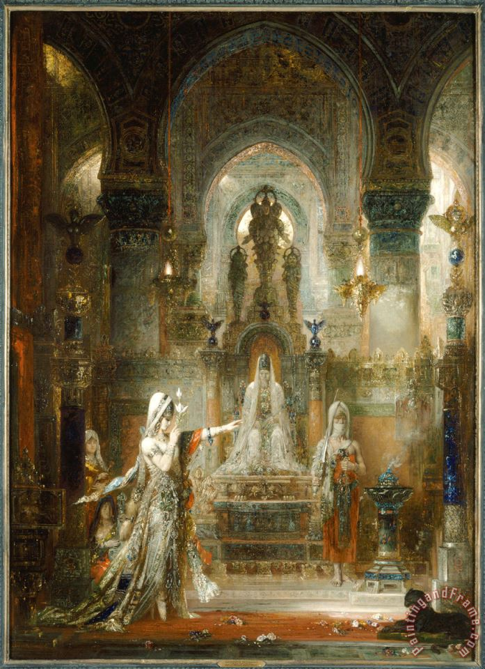 78 painting - Gustave Moreau 78 Art Print
