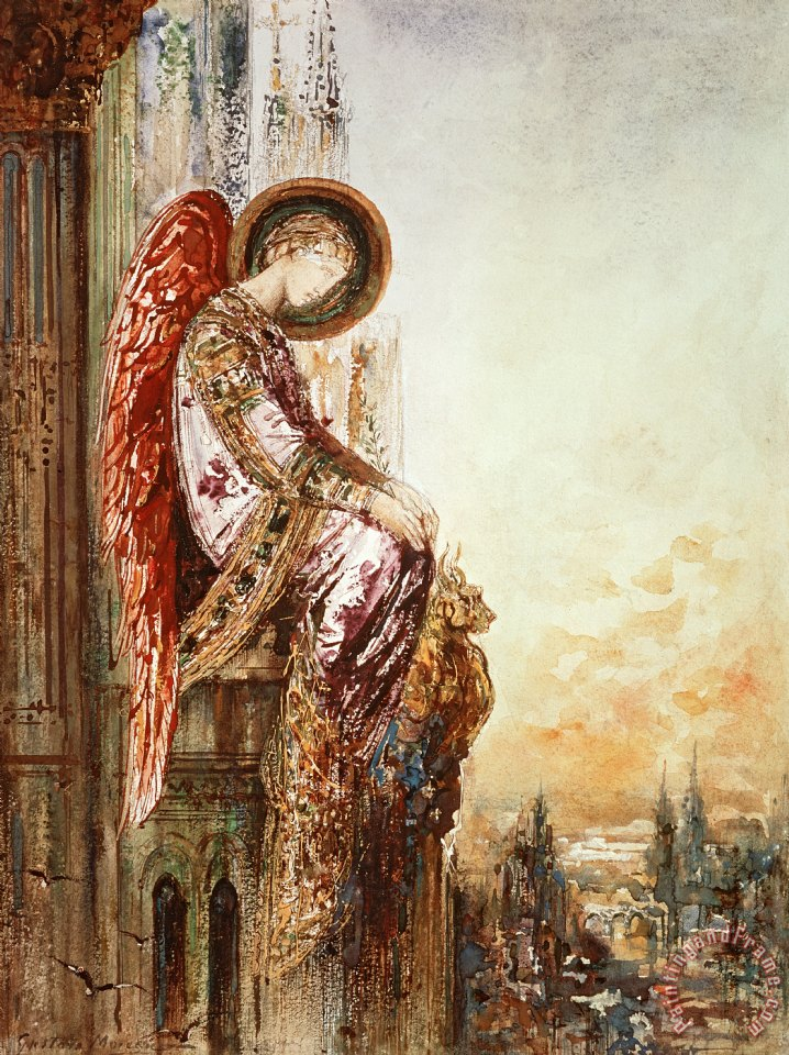 Gustave Moreau Angel Traveller Art Print