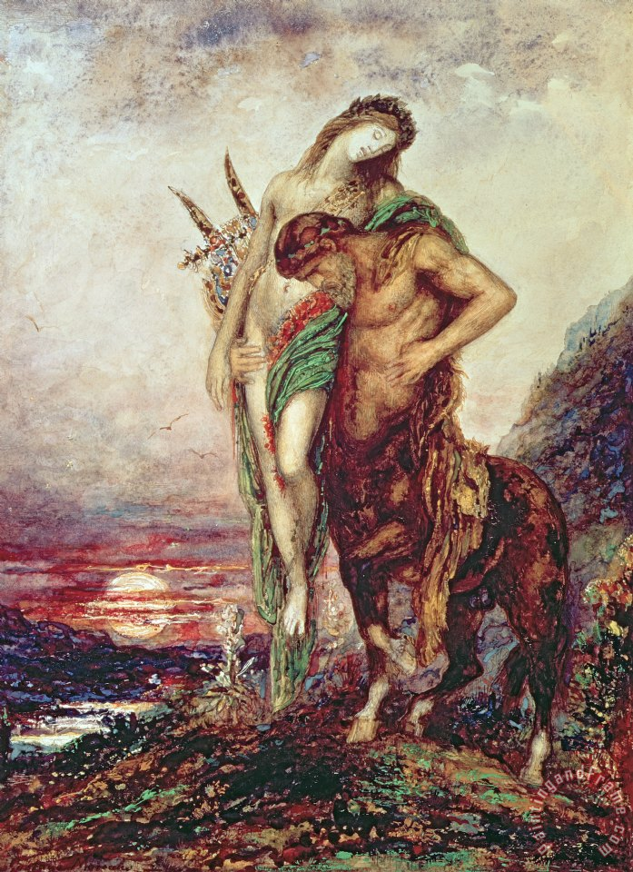 Dead Poet Borne By Centaur painting - Gustave Moreau Dead Poet Borne By Centaur Art Print