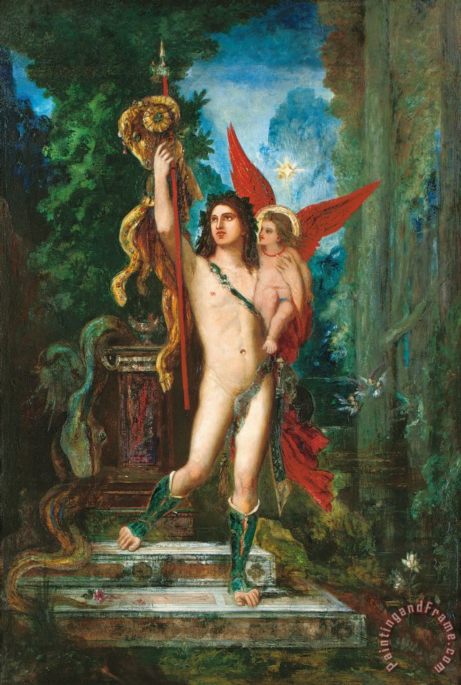 Jason And Eros painting - Gustave Moreau Jason And Eros Art Print