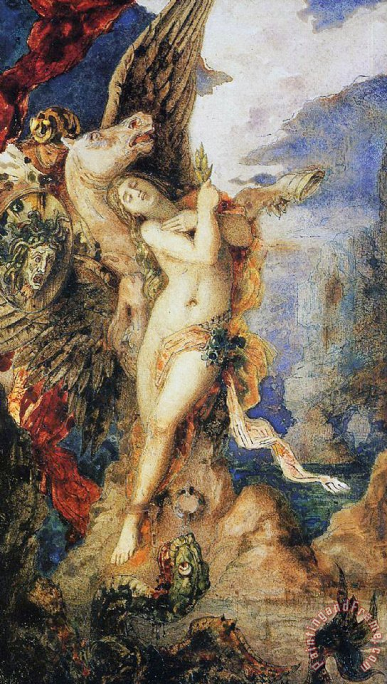 Gustave Moreau Perseus And Andromeda Art Print