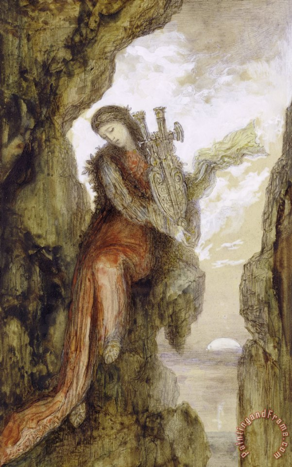 Sappho On The Cliff painting - Gustave Moreau Sappho On The Cliff Art Print
