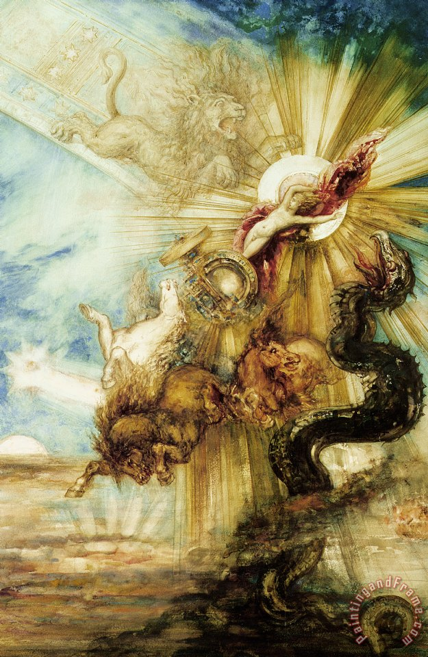 Gustave Moreau The Fall Of Phaethon Art Print