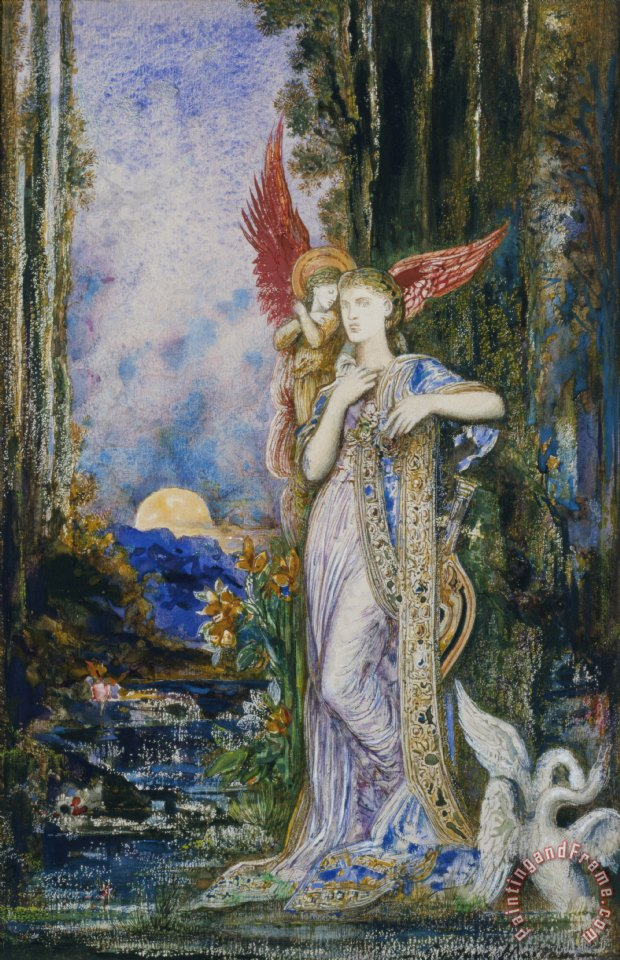 Gustave Moreau The Inspiration Art Print