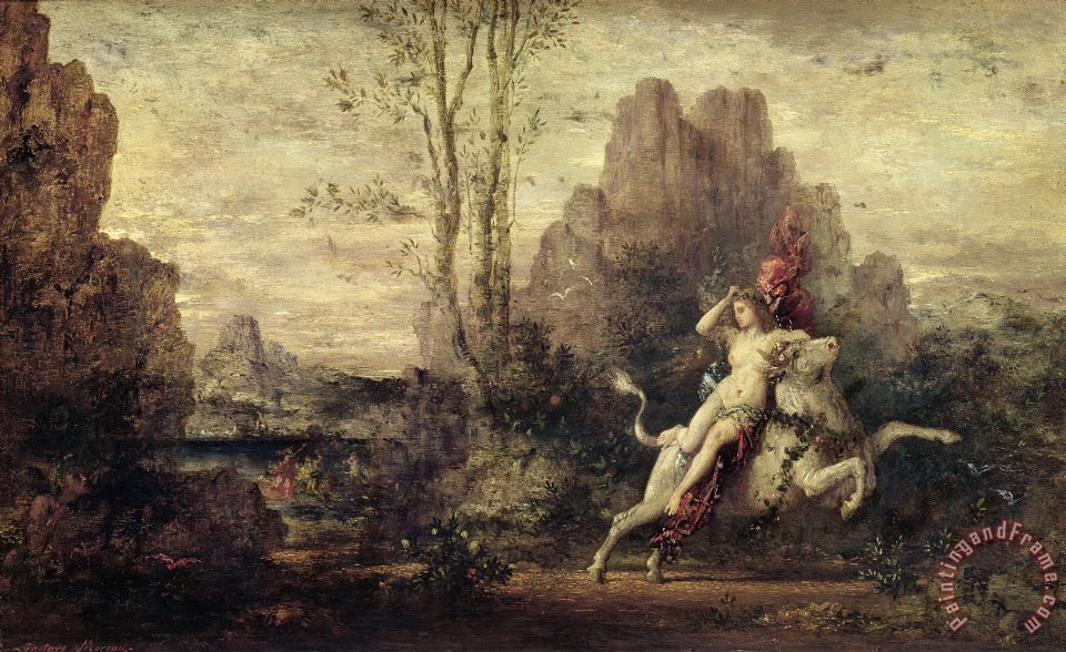 The Rape Of Europa painting - Gustave Moreau The Rape Of Europa Art Print