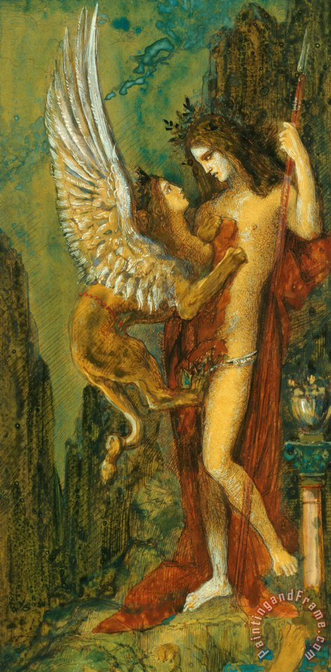 The Sphinx painting - Gustave Moreau The Sphinx Art Print
