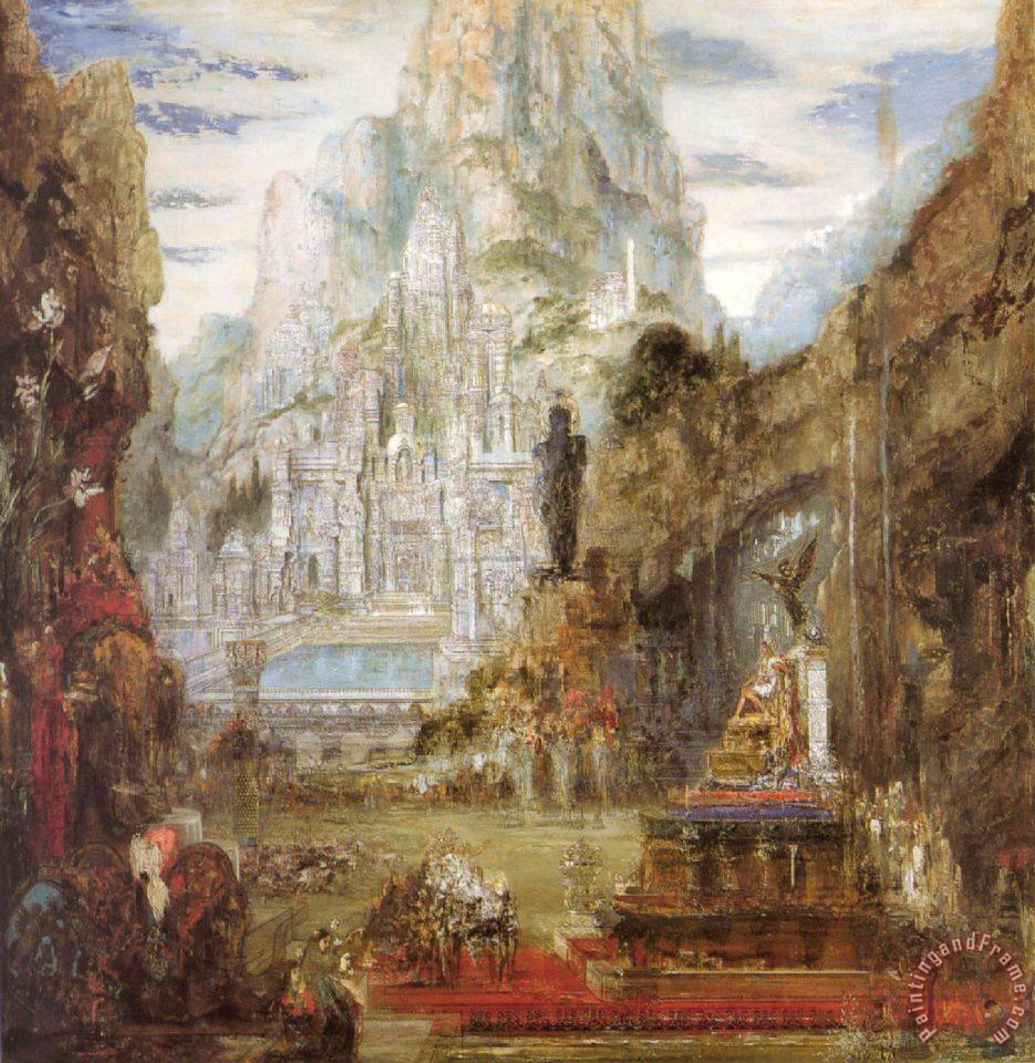 The Triumph of Alexander The Great painting - Gustave Moreau The Triumph of Alexander The Great Art Print