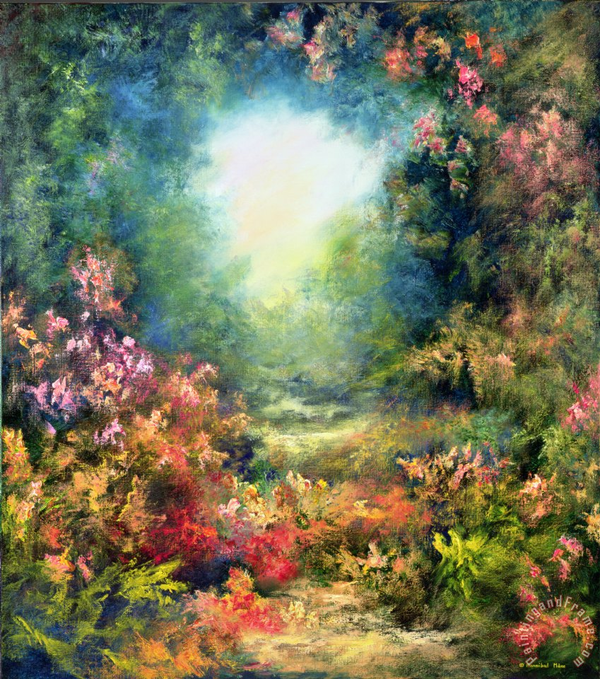 Hannibal Mane Rococo Delight Painting Rococo Delight Print For Sale - Rococo painting