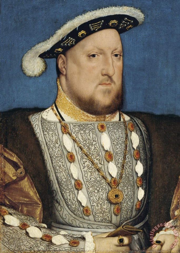 Portrait Of Henry Viii King Of England painting - Hans Holbein the Younger Portrait Of Henry Viii King Of England Art Print