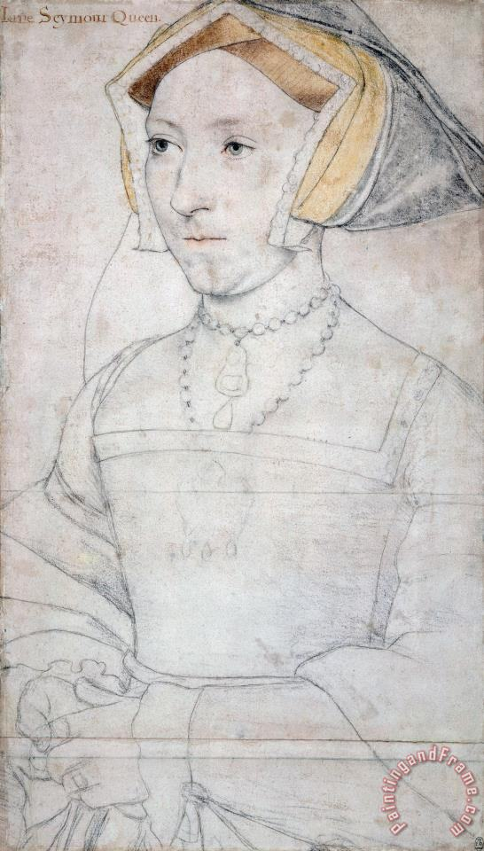 Hans Holbein the Younger Portrait of Queen Jane Seymour Art Print