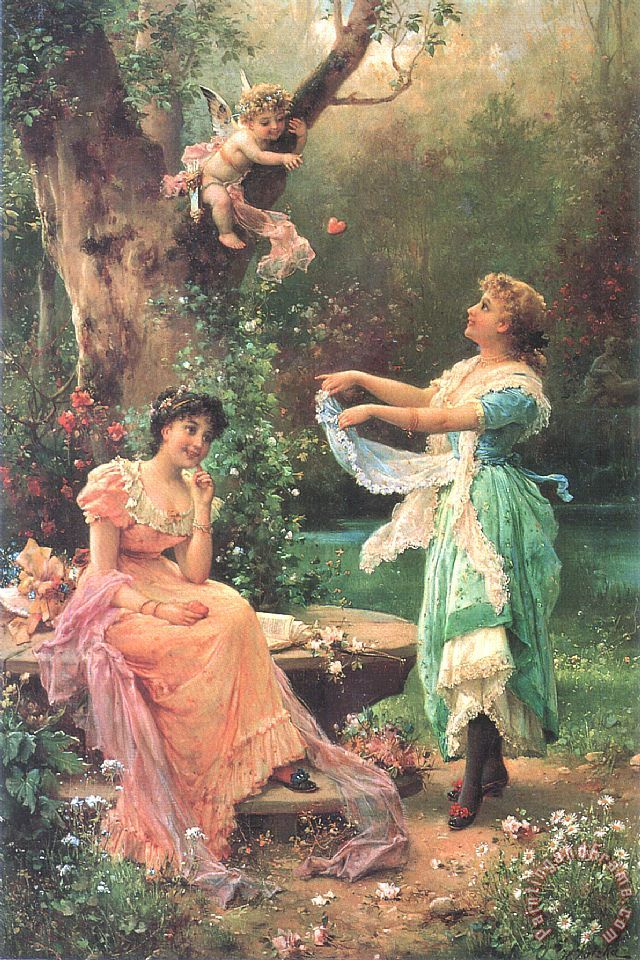 Cupid's Toss painting - Hans Zatzka Cupid's Toss Art Print