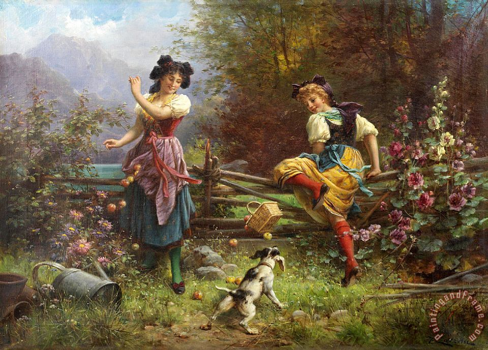 Hans Zatzka Jealous Girlfriend Art Print