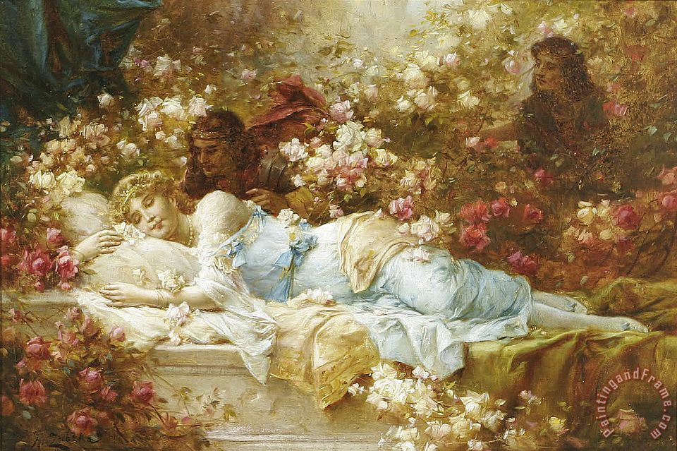 Hans Zatzka Sleeping Beauty Art Print