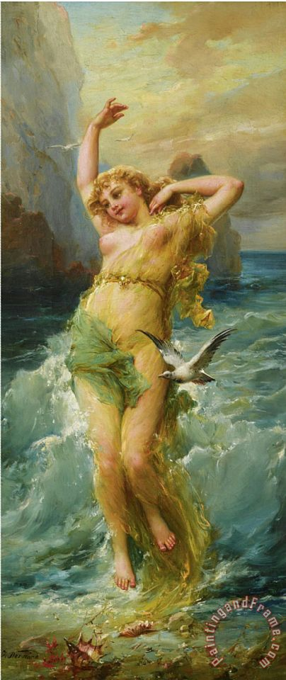 Hans Zatzka Water Nymph Art Print