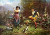 Jealous Girlfriend by Hans Zatzka