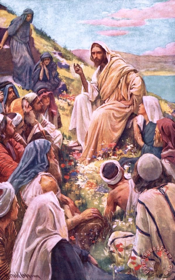 The Sermon On The Mount painting - Harold Copping The Sermon On The Mount Art Print