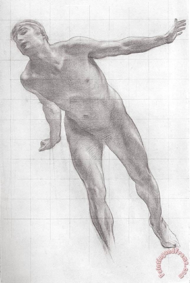 Harold Speed Study for The Figure of Apollo in Apollo And Daphne painting -  Study for The Figure of Apollo in Apollo And Daphne print for sale