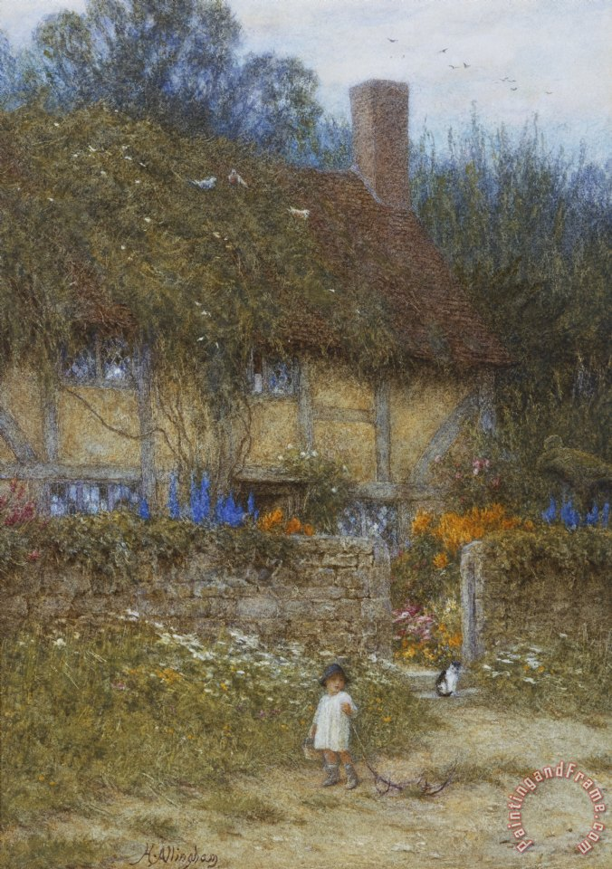 A Cottage near Godalming Surrey painting - Helen Allingham A Cottage near Godalming Surrey Art Print