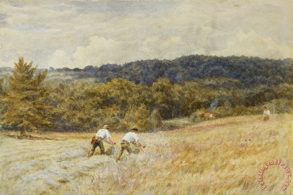 Helen Allingham The Reapers Art Print