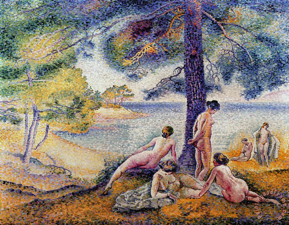 In the Shade painting - Henri-Edmond Cross In the Shade Art Print