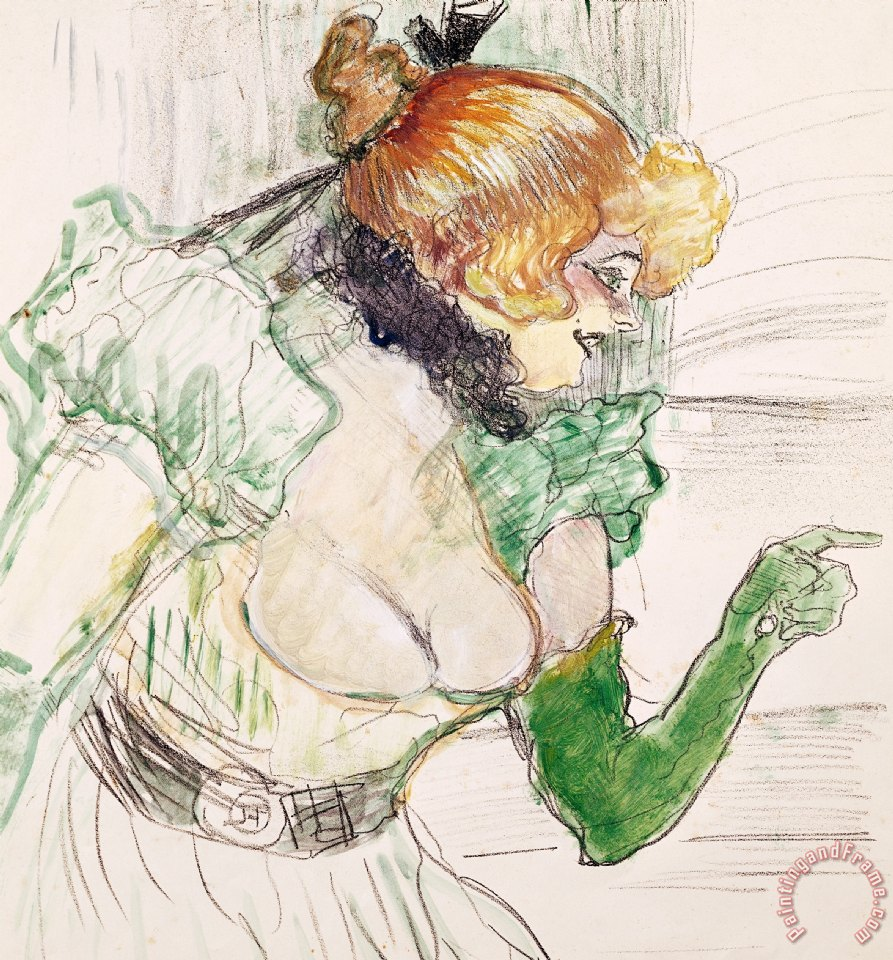 Henri de Toulouse-Lautrec Artist With Green Gloves - Singer Dolly From Star At Le Havre Art Print