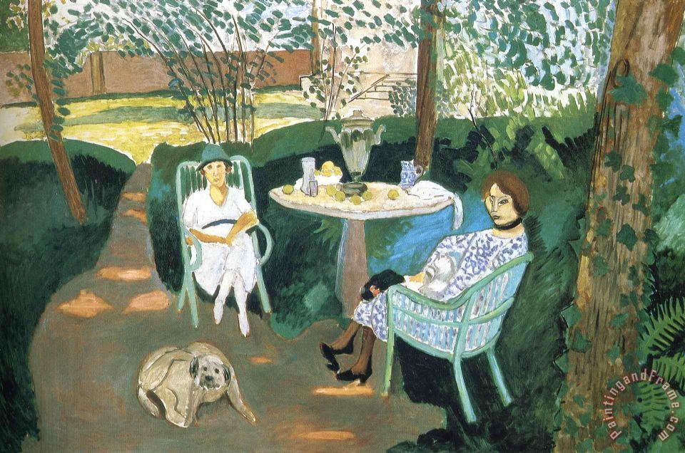 Henri Matisse Tea in The Garden 1919 Art Print
