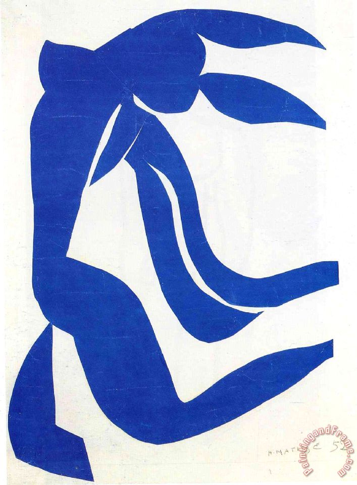 Henri Matisse The Flowing Hair 1952 Art Print