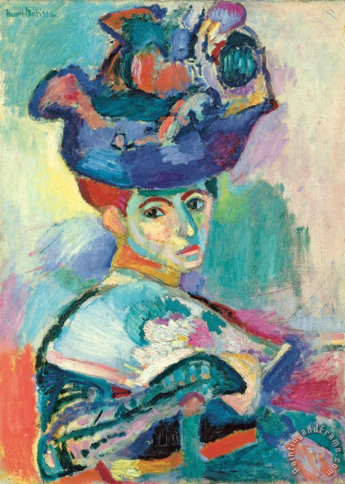 Woman with Hat 1905 painting - Henri Matisse Woman with Hat 1905 Art Print