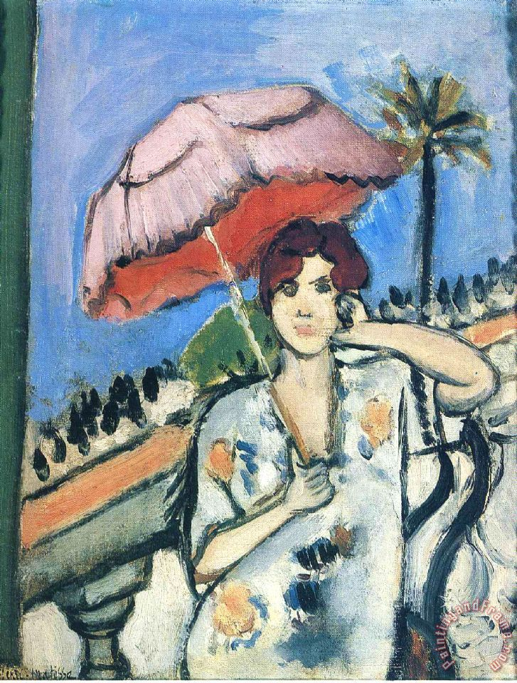 Henri Matisse Woman with Umbrella painting - Woman with ...