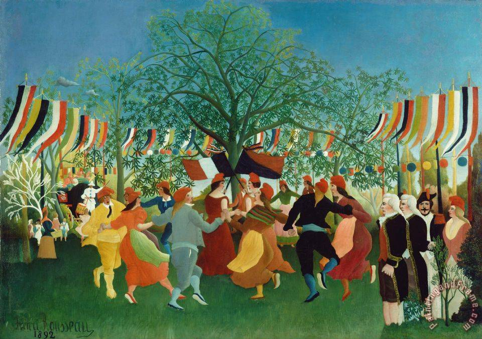 Henri Rousseau A Centennial of Independence Art Print